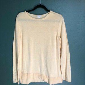 J. Jill Soft Pale Yellow Sweater Long Sleeve Plus